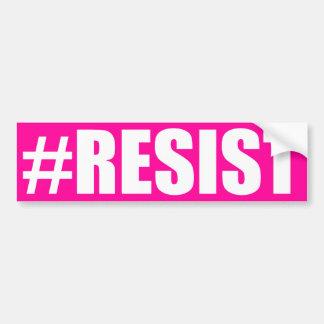 PEGATINA PARA COCHE #RESIST
