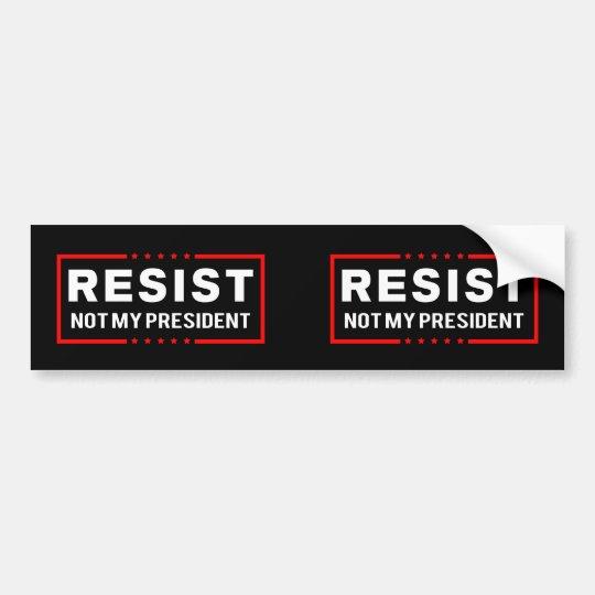 Pegatina Para Coche Resista el triunfo no mi presidente