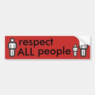 Pegatina Para Coche respete a toda la gente