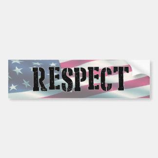 Pegatina Para Coche Respete la bandera, soporte para el himno nacional