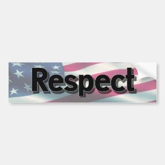 Pegatina Para Coche Respete nuestra bandera, soporte para el himno