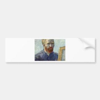 Pegatina Para Coche Retrato de uno mismo de Van Gogh