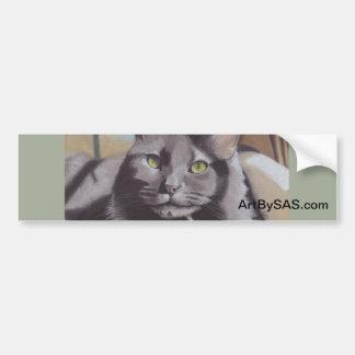 Pegatina Para Coche Retrato gris del mascota del gato