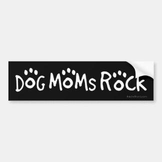 Pegatina Para Coche Roca de las mamáes del perro