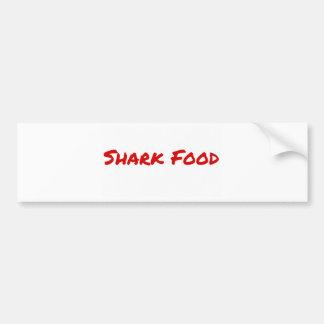 Pegatina Para Coche Rojo de la comida del tiburón