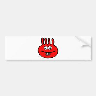 Pegatina Para Coche Rojo del monstruo de Floatie