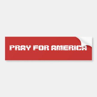 Pegatina Para Coche Ruegue para América