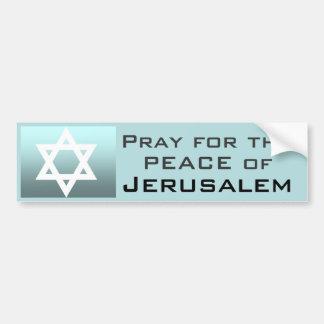Pegatina Para Coche Ruegue para la paz de Jerusalén