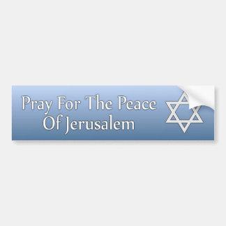 Pegatina Para Coche Ruegue para la paz de la estrella de Jerusalén de