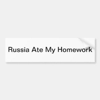 Pegatina Para Coche Rusia comió mi preparación