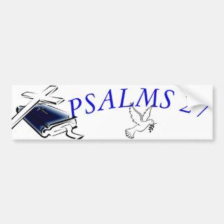 PEGATINA PARA COCHE SALMOS 27