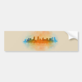 Pegatina Para Coche San Diego California City Skyline Watercolor v04