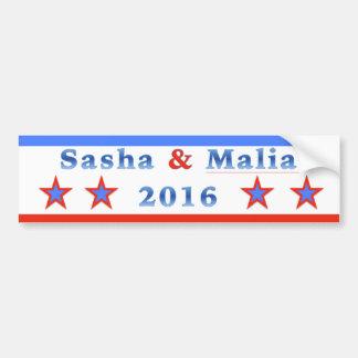 Pegatina Para Coche ¡Sasha y Malia para el presidente 2016!