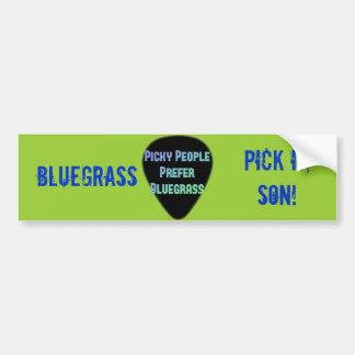 Pegatina Para Coche ¡Selección del Bluegrass él hijo!