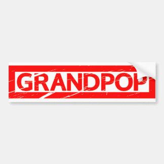 Pegatina Para Coche Sello de Grandpop