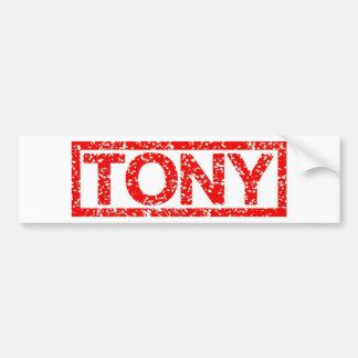 Pegatina Para Coche Sello de Tony