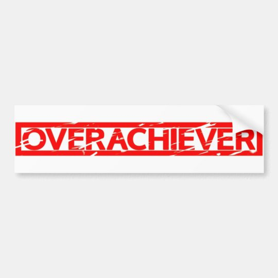 Pegatina Para Coche Sello del Overachiever