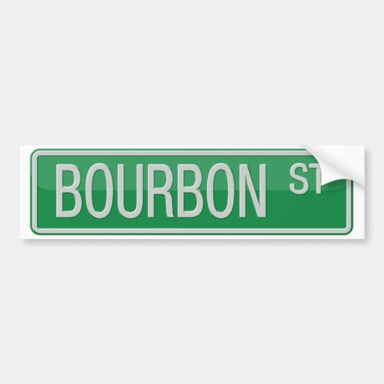 Pegatina Para Coche Señal de tráfico de la calle de Borbón