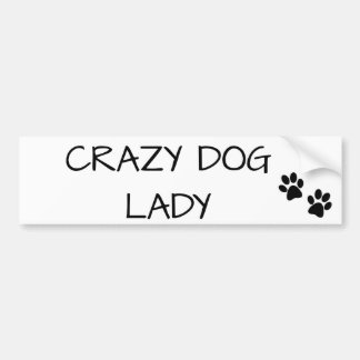 Pegatina Para Coche Señora loca del perro