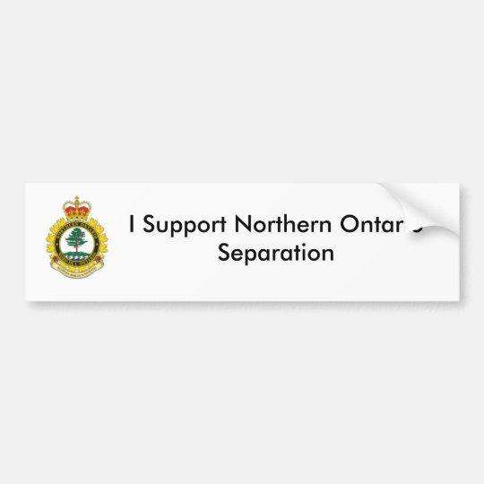 Pegatina Para Coche Separación septentrional de Ontario