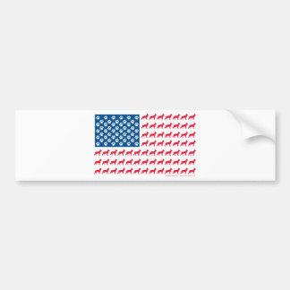Pegatina Para Coche Shepard-Bandera patriótica