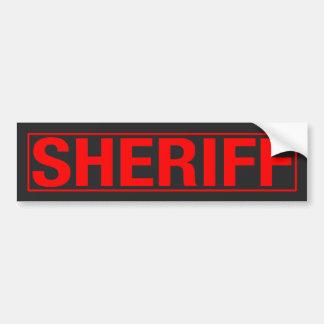 "PEGATINA PARA COCHE ""SHERIFF """