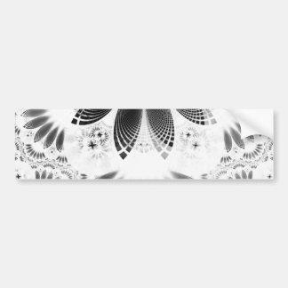 Pegatina Para Coche Shikoba de plata, plumas hermosas del fractal de