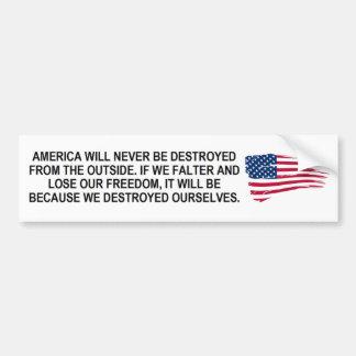 Pegatina Para Coche Si América vacila