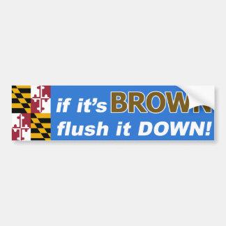 Pegatina Para Coche Si es Anthony Brown para el gobernador de
