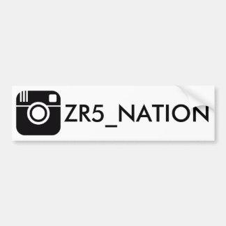 Pegatina Para Coche Siga el blanco de @ZR5_NATION