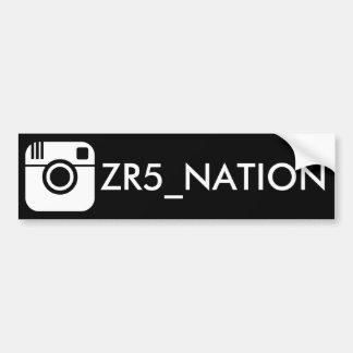 Pegatina Para Coche Siga el negro de @ZR5_NATION