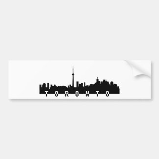 Pegatina Para Coche silhoue del negro del símbolo de la ciudad de