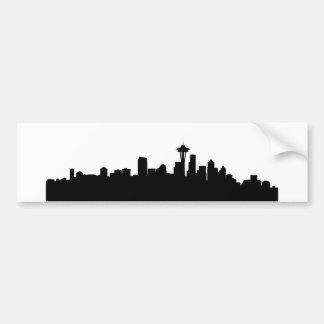 Pegatina Para Coche silueta América del negro del paisaje urbano de la