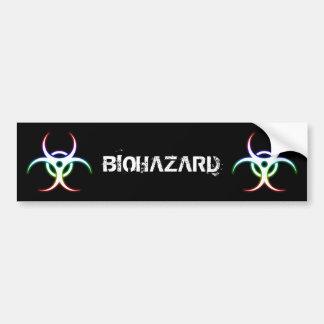 Pegatina Para Coche Símbolo del Biohazard que brilla intensamente -