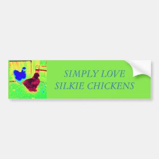 Pegatina Para Coche Simplemente pollos del silkie del amor