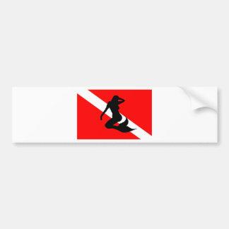 Pegatina Para Coche Sirena de la bandera de la zambullida