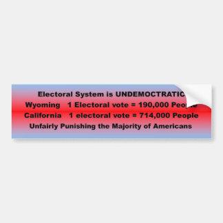 Pegatina Para Coche Sistema electoral