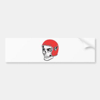 Pegatina Para Coche ☞ Skullracer motorcycle helmet