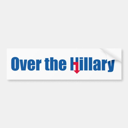 Pegatina Para Coche Sobre la Hillary