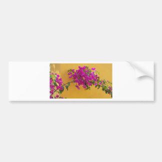 Pegatina Para Coche Sol amarilla del arco de la flor del rosa de la
