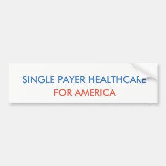 Pegatina Para Coche Sola atención sanitaria del pagador
