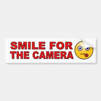 Pegatina Para Coche Sonría para la cámara con la cara sonriente
