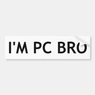 Pegatina Para Coche Soy PC Bro