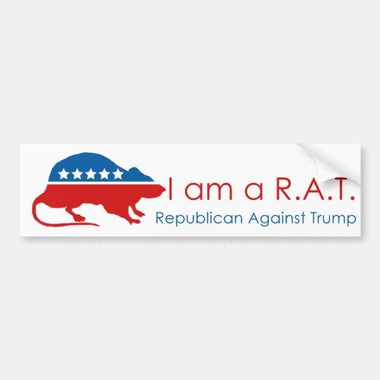 Pegatina Para Coche Soy un R.A.T: Republicano contra el triunfo