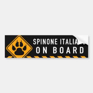 Pegatina Para Coche Spinone Italiano a bordo