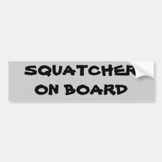 Pegatina Para Coche Squatcher a bordo