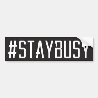 PEGATINA PARA COCHE #STAYBUSY