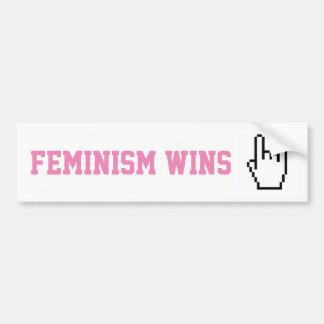 Pegatina Para Coche Sticker feminism wins
