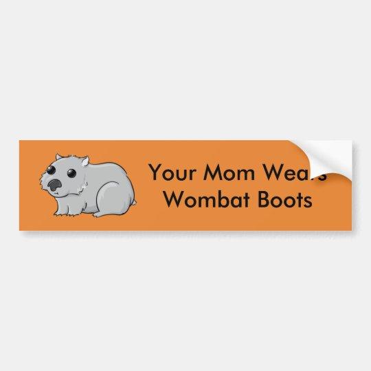 Pegatina Para Coche Su mamá lleva las botas de Wombat
