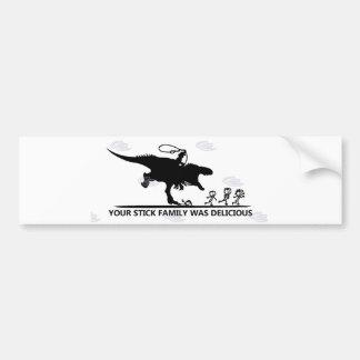 Pegatina Para Coche Su palillo Family/T-rex